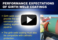 Quality Control of Surface Preparation & Coating Installation/Pipe Girth Welds